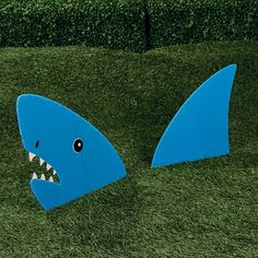 Land Shark Yard Stake. I'm sure I could DIY this... But just in case, it's from Oriental Trading
