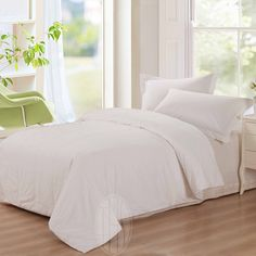 Silk Bed Sheets, Silk Bedding, Flat Sheets, Duvet, Spalding Gray, Ivory White, Queen Size, Down Comforter, Comforters