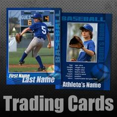 baseball trading cards | Custom, editable templates for baseball trading cards, high quality ...