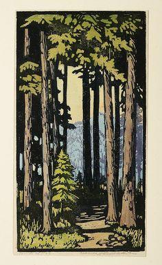 Colour woodblock print   Frances Hammell Gearhart (1869-1958)