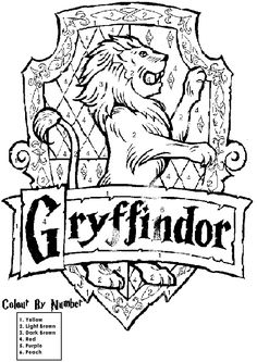 harry potter house crest coloring pages
