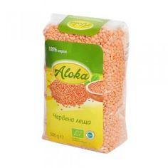 Био зърнени варива : Био червена леща 500 г Aloka