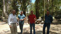 Autoridades del municipo acompañaron a Hirtz en la recorrida por La Chacra