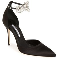 Women's Manolo Blahnik 'Sicariata' Embellished Pump, Size 6US / 36EU - Black