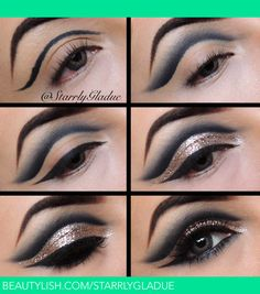 10 Intense Metallic Eye Looks - Likes