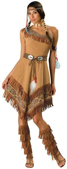 PartyBell.com - Indian #Maiden Adult Costume