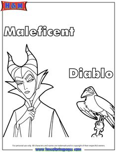 On May 2014 We will get to see Angelina Jolie portray Maleficent in Disney's new movie Maleficent. While there haven't been any releases for fun printables or activities featuring… Descendants Coloring Pages, Disney Coloring Pages, Coloring Pages To Print, Coloring Sheets, Adult Coloring, Coloring Books, Disney Maleficent, Disney Villains, Disney Printables