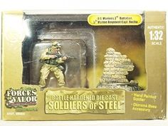 FORCES OF VALOR UNIMAX 1/32 Scale 3th Battalion 5th Marine Regiment 99006 Capt. Captain Rocha Minifigure Collectible BATTLE HARDENED DIE CAST SOLIDERS OF STEEL