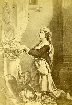 Joan of Arc 88300 Domremy Old CDV Photo Odinot ca 1880