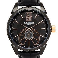 Paul Perret Utopia Men's Ronda 6004.B Movement Sapphire Sunray Satin Dial Genuine Swiss Watch