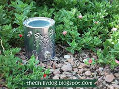 Tutorial: Paint Can Luminaria Fairy House - How to make a glowing fairy garden house from a quart sized paint can and glow in the dark duct tape.