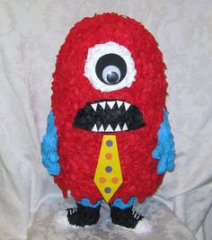 Red Monster Pinata - Traditional. $38.00, via Etsy.....Getting this at a local pinata store for $20 & it's BIGGER! Woohoo!!! Rhyez is going to FREAK!