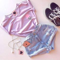 Clothes Ideas Archives - Best DIY and Crafts Ideas Tumblr Outfits, Swag Outfits, Cute Casual Outfits, Cute Summer Outfits, Teenage Outfits, Teen Fashion Outfits, Cute Fashion, Outfits For Teens, Look Fashion