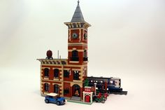 This is my Lego town train station. Its called Talosville Station, from my user ID talos on some of the Lego blog sites. It is modular, so the floors come apart to reveal the...