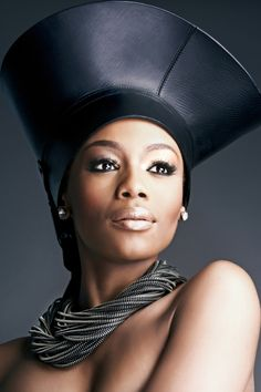 trueafricanoriginal: Model Bonang Matheba (South Africa) Plus My Black Is Beautiful, Beautiful People, Beautiful Women, African Beauty, African Fashion, Tribal Fashion, High Fashion, African Models, Love Hat