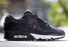 Nike Womens Air Max 90 – Black – Anthracite – Metallic Silver