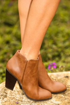 Cognac booties! A closet necessity! The perfect pair of shoes to complete all of your winter looks! Obsessed!