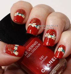 Cinema flowers - Merry Christmas!!! - Marias Nail Art and Polish Blog