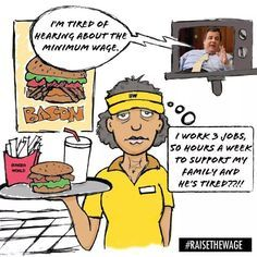 "Chris Christie: ""I'm tired of hearing about the minimum wage"" Worker: ""I work 3 jobs, 50 hours a week to support my family and he's tired!!!"" #raisethewage via Fuck Yeah Marxism-Leninism, on Tumblr"