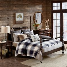 JLA Home Madison Park Signature Urban Cabin Queen 8 Piece Cotton Jacquard Comforter Set - Bed in a Bag - Bed & Bath - Macy's Plaid Comforter, Queen Comforter Sets, Rustic Comforter Sets, Bedroom Comforter Sets, Bedding Decor, Red Bedding, Boho Bedding, Decoration Bedroom, Bed Styling