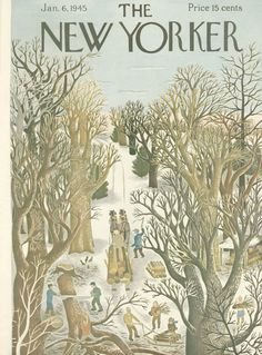 The New Yorker - Saturday, January 6, 1945 - Issue # 1038 - Vol. 20 - N° 47 - Cover by : Ilonka Karasz