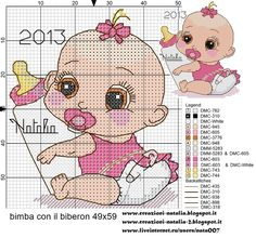 Lovely baby girl #crossstitch