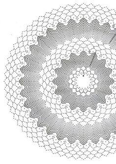 Crochet: mantas lucha redonda - maomao - Me muevo los pies Crochet Doily Rug, Crochet Doily Diagram, Crochet Stars, Crochet Potholders, Crochet Quilt, Crochet Doily Patterns, Crochet Tablecloth, Thread Crochet, Crochet Granny