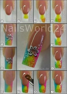 Anleitung-Sommer-Naegel-Glitzer – – Instrucciones Summer Naegel Glitter – – The post Instrucciones Summer Naegel Glitter – – appeared first on Crystal Wilson. Neon Nails, Bling Nails, Diy Nails, Glitter Nails, Cute Nails, Pretty Nails, Fingernail Designs, Acrylic Nail Designs, Nail Art Designs
