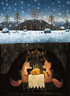"""Chuck Groenink - reminds me of The Fantastic Mr. Fox or the folk song """"The Fox Went Out on a Chilly Night"""""""