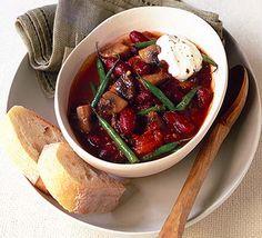Vegetable chilli bowl -- 133 calories