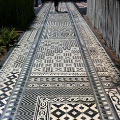 Tiling at la Corniche, Pyla-sur-mer France