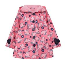 Girl's pink 'Peppa Pig' print shower proof coat from Debenhams