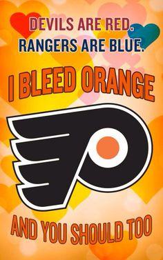 I bleed orange Flyers hockey Valentine Flyers Players, Flyers Hockey, Ice Hockey Teams, Sports Teams, Hockey Players, Philadelphia Flyers Logo, Philadelphia Sports, Hockey Girls, Hockey Mom