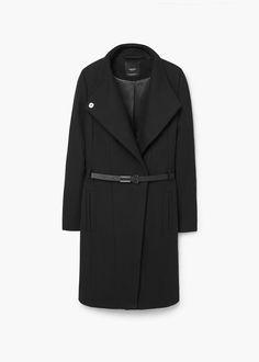 Palton lână curea