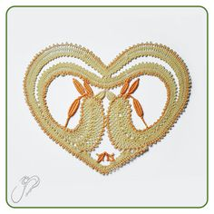 Fotogaléria :: Paličkovaný svet Lace Heart, Lace Jewelry, Bobbin Lace, Lace Detail, Heart Ring, Butterfly, Symbols, Pattern, Hearts