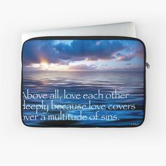 Inspirational Text, Love Cover, Love Each Other, Laptop Case, Laptop Sleeves, My Arts, Art Prints, Printed, Awesome