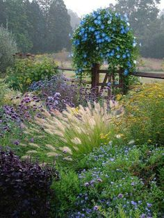 rustic garden tapestry,  borrow a view
