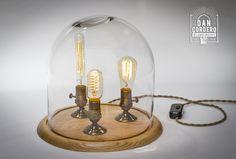 Edison Bell Jar Lamp - Oak - XL | Dan Cordero