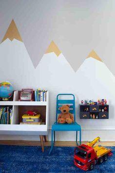 Little Boy's Room Makeover: Mountain Mural