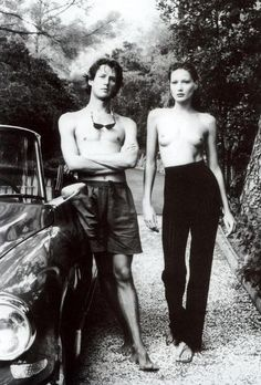 Carla Bruni and her late brother by Helmut Newton. Vanity Fair, 1992.