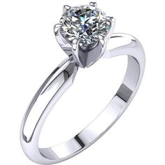 Certified Classic Four Prong Solitaire 2.0Ct. Diamond Engagement Ring