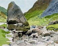 The Honister Pass copy, Ian Sidaway artist Watercolor Sketchbook, Watercolor Painting Techniques, Watercolor Landscape Paintings, Watercolor Canvas, Watercolor Drawing, Art Sketchbook, Landscape Art, Watercolor Inspiration, Mountain Landscape
