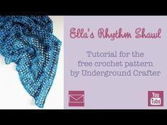 Free pattern: Ella's Rhythm Shawl | Underground Crafter