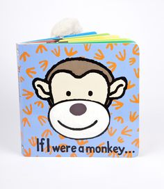 "Jellycat ""If I Were A Monkey"" Book"