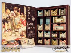 2My Memory Drawers, An Abc Primer, by Yumi Muraeda, Product by Graphic 45.