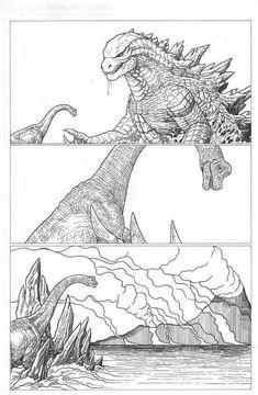 Godzilla Saving Brachiosaurus In Jurassic World Fallen Kingdom Jurassic World Dinosaurs, Jurassic Park World, Godzilla Comics, Jurassic World Fallen Kingdom, Falling Kingdoms, Park Art, Dinosaur Art, Prehistoric Creatures, Monster