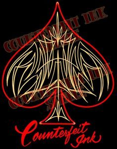 pinstripe Ace of Spades - Google Search
