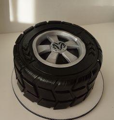 Car tire cake