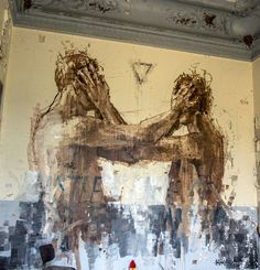 Borondo on the streets of Paris - StreetArt101