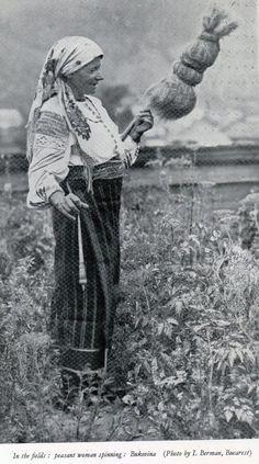 Peasant woman in Bukovina, today half in Romania and half in Ukraine